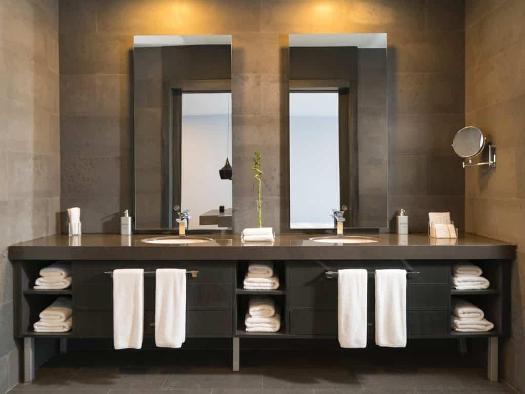 bathroom with floating vanity