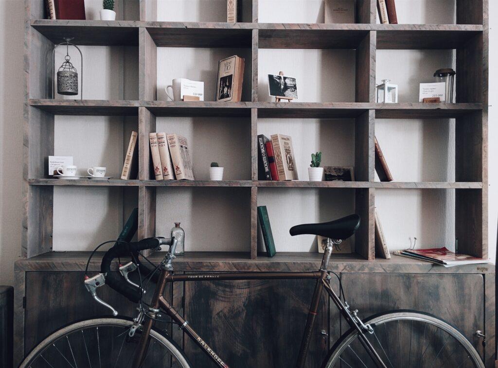 corner shelves in a garage