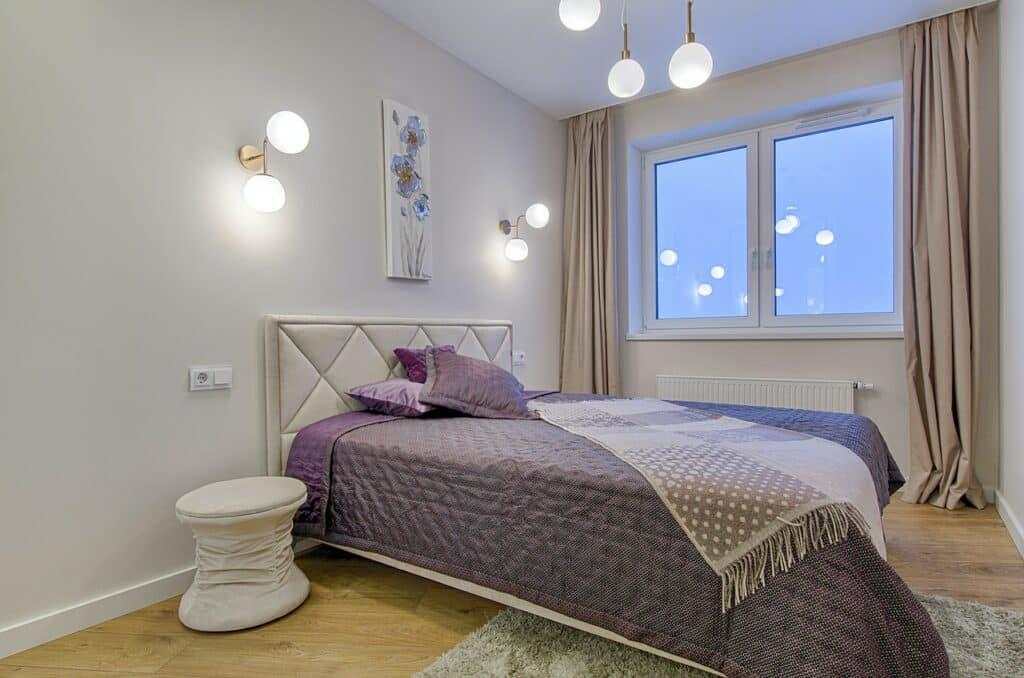 Modern lighting in a bedroom