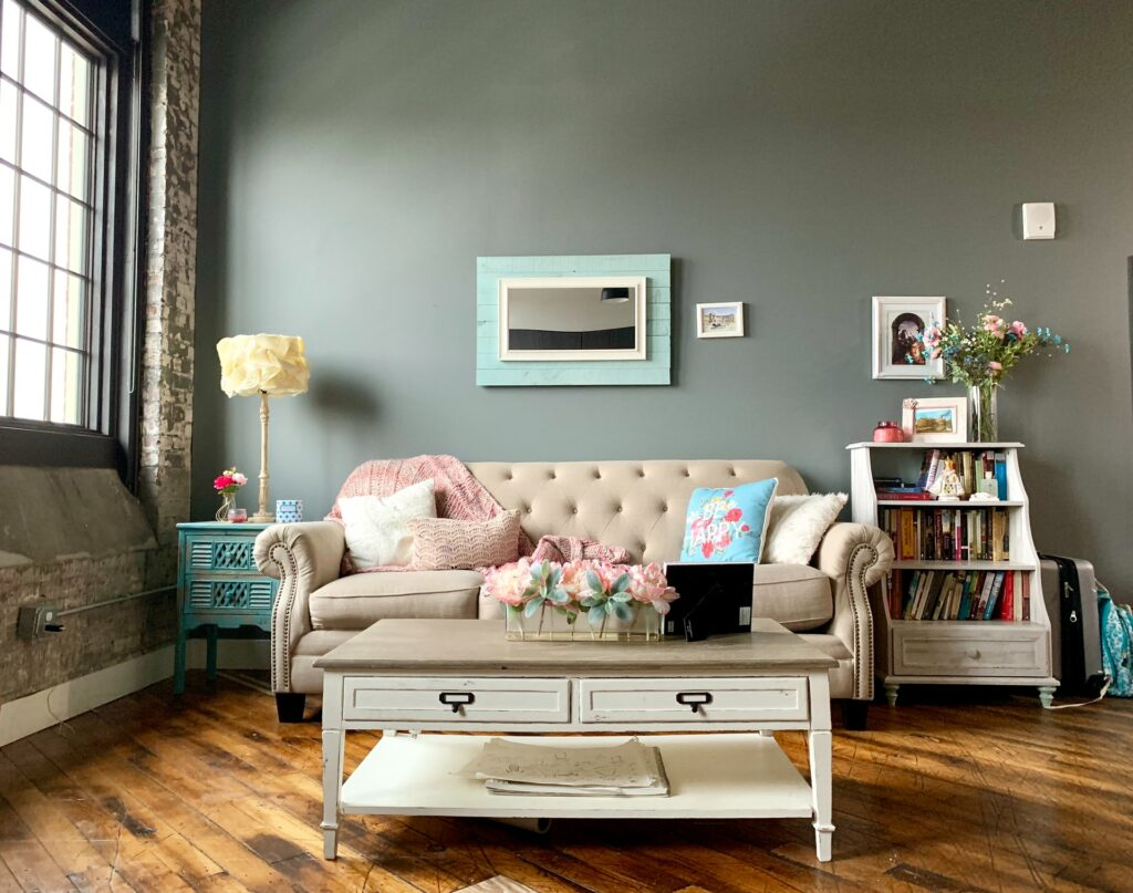 loveseat decorate small living room