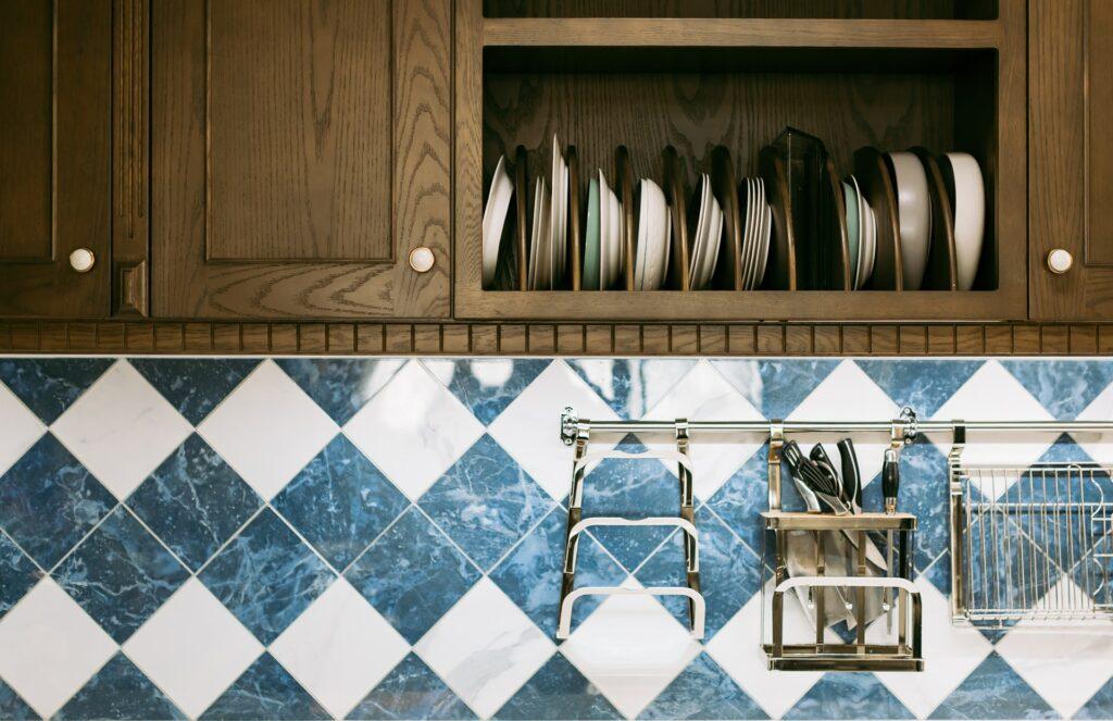 Vinyl backsplash in a kitchen