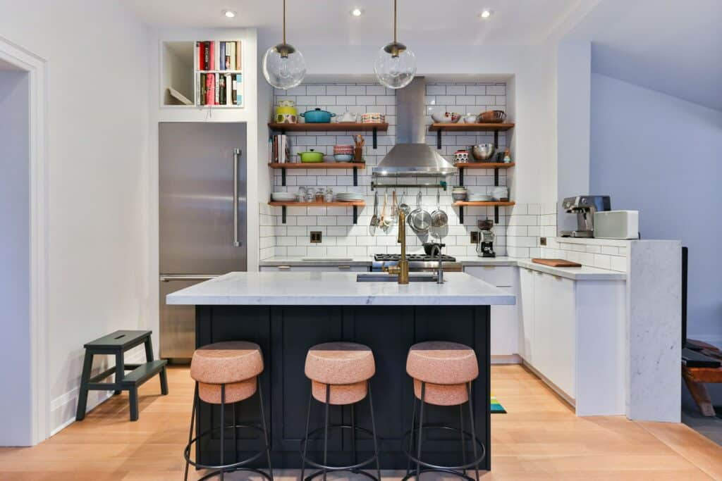 kitchen island in a small kitchen remodel ideas