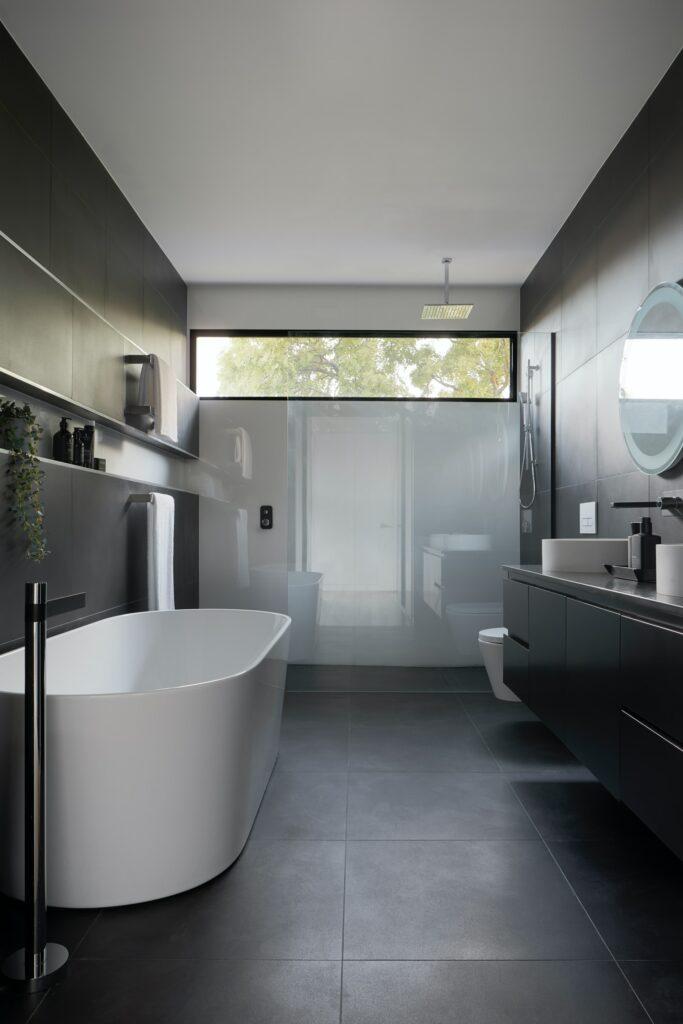 black color in bathroom