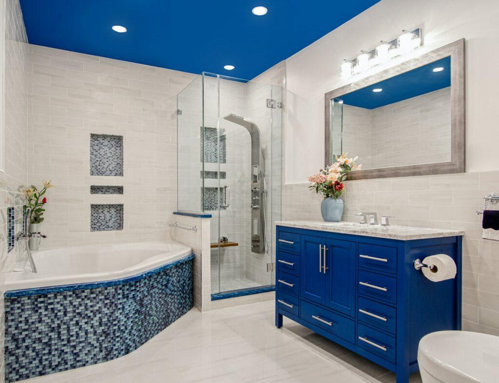 blue bathroom colors