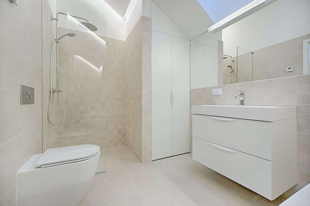 tiling a bathroom shower
