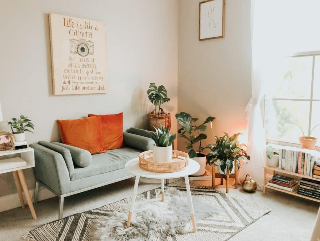 Budget living room remodel