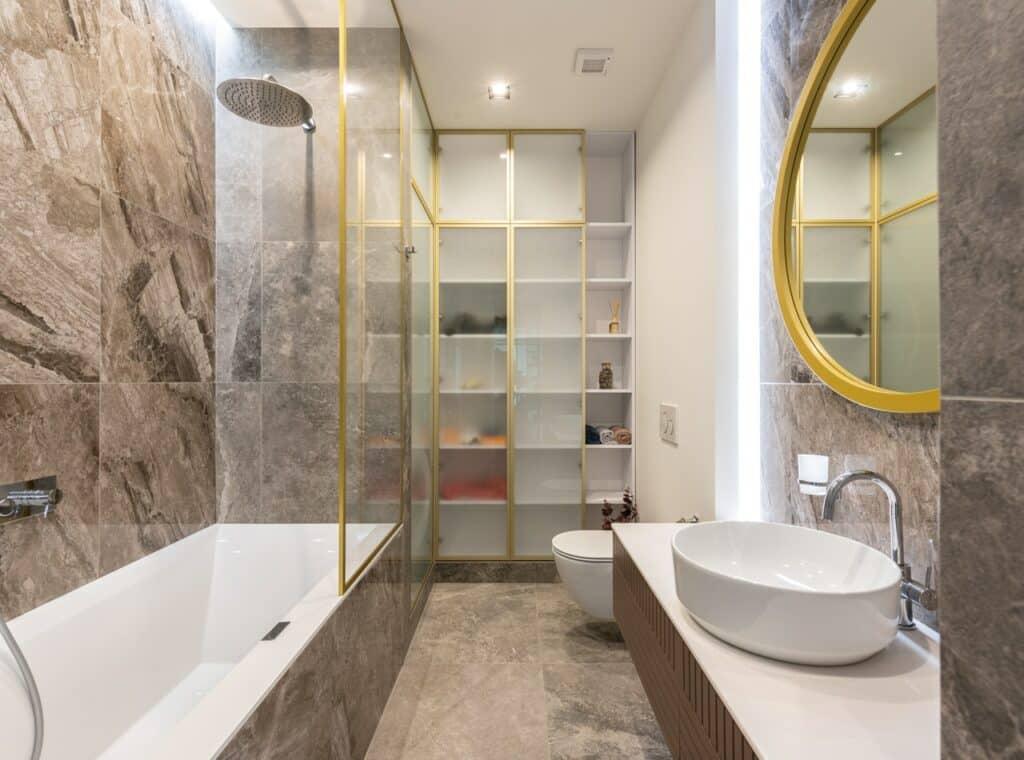 bright bathroom color remodel