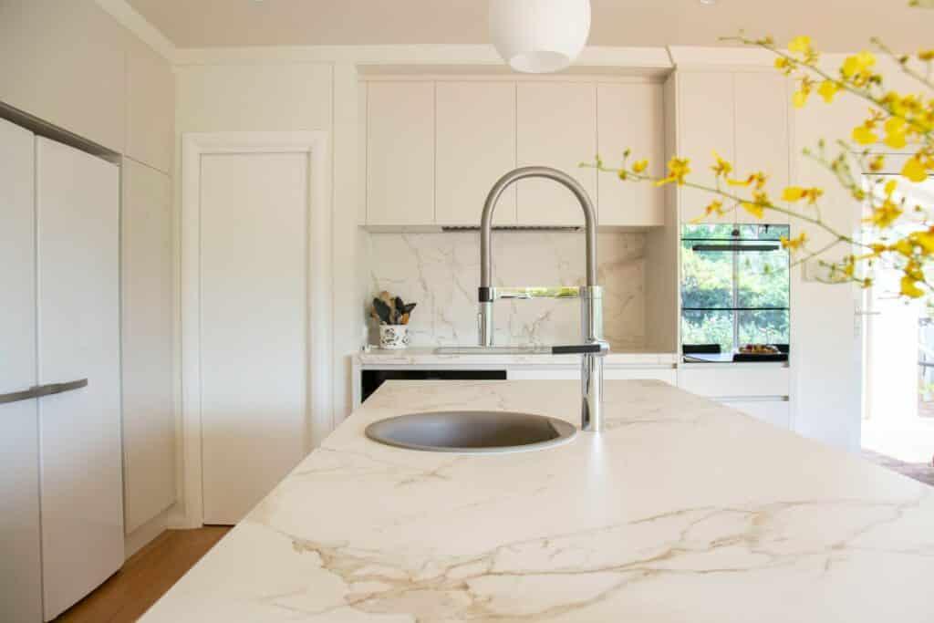 marble kitchen surface