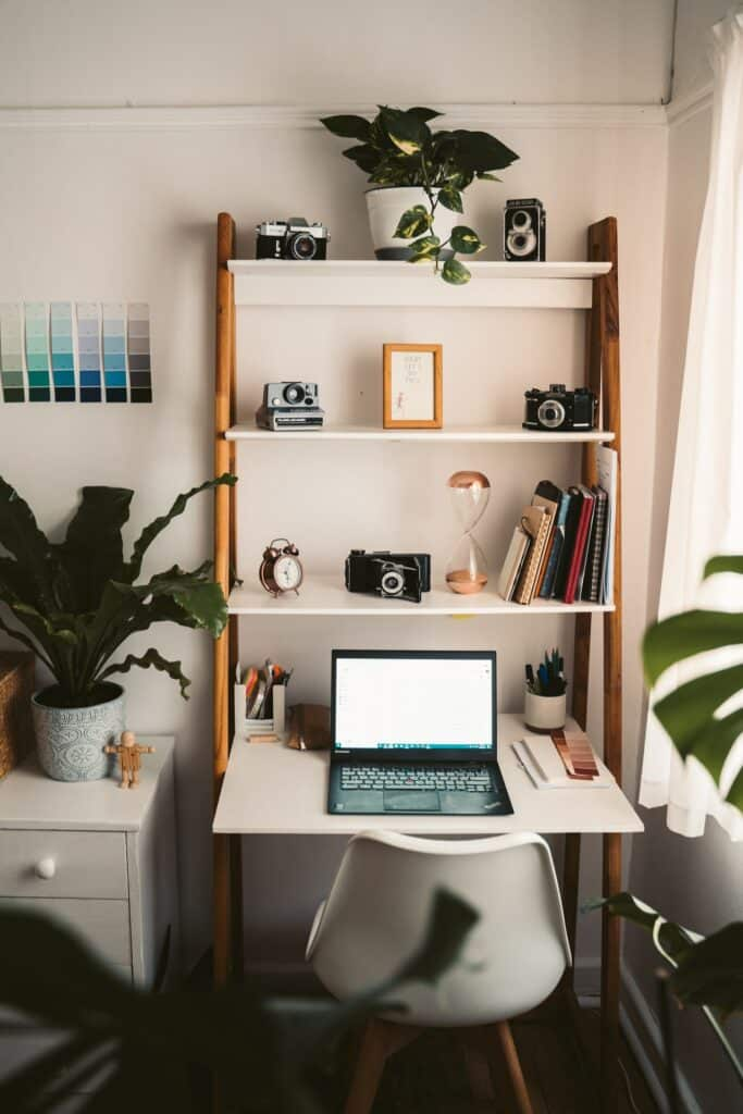 vertical home office storage