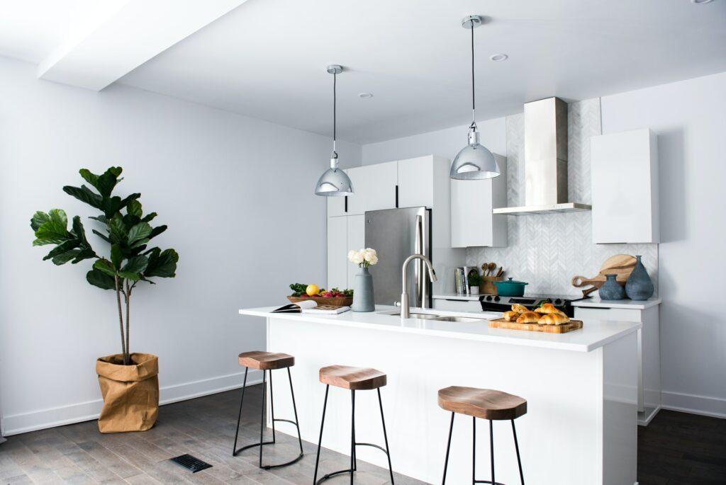 add plants in kitchen design