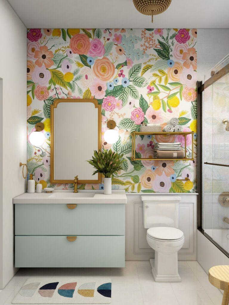bathroom wallpaper low-cost home updates