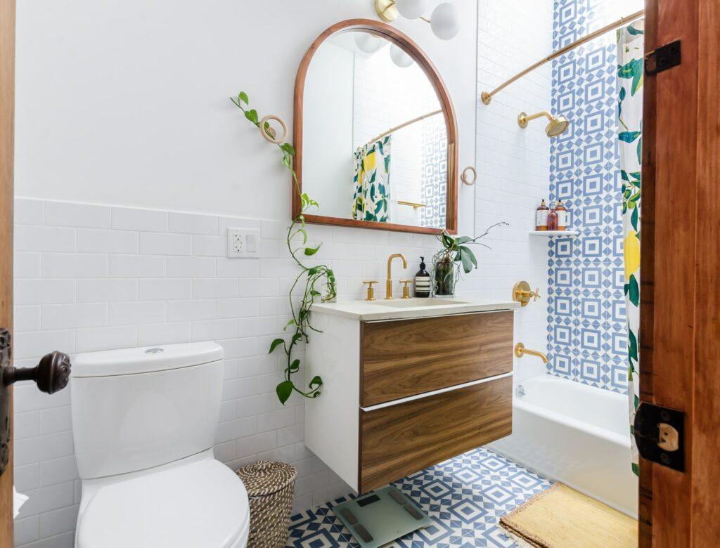 install bathroom toilet