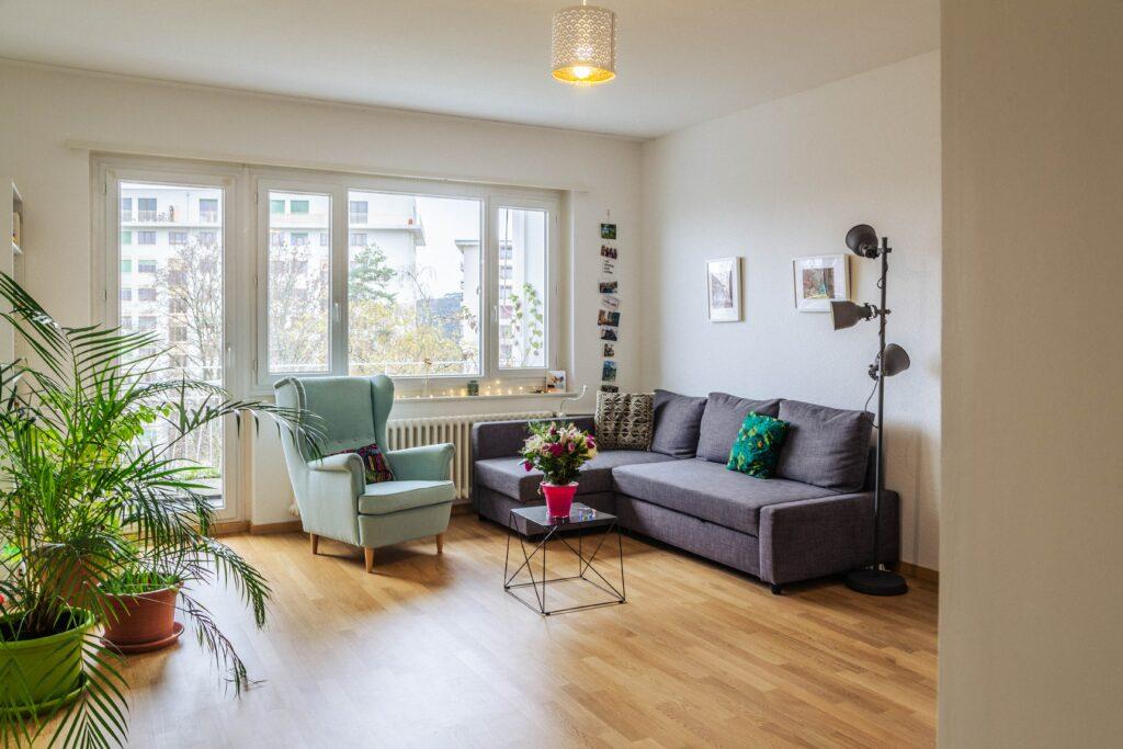 living room flooring update
