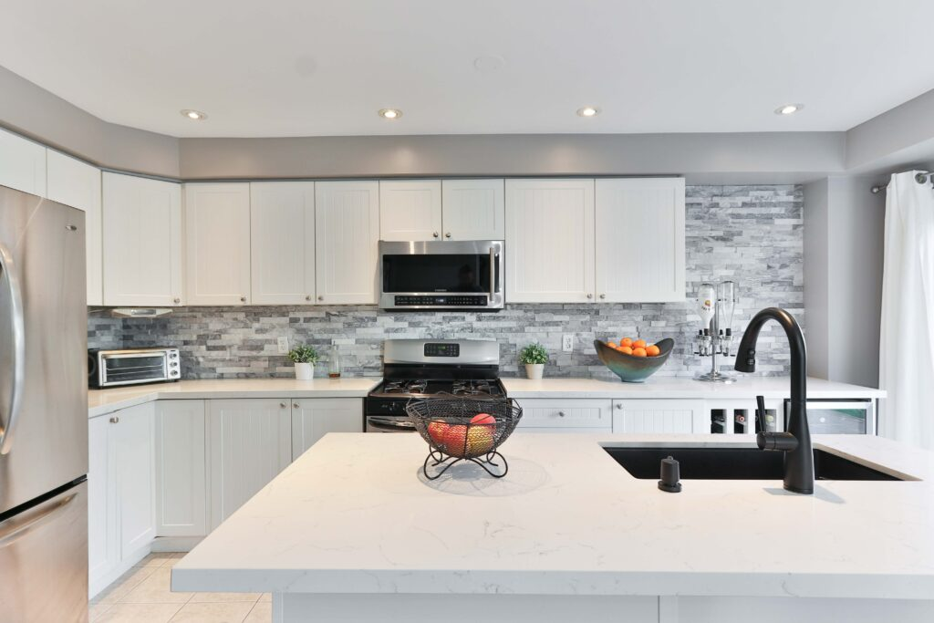 low-cost home updates kitchen countertop