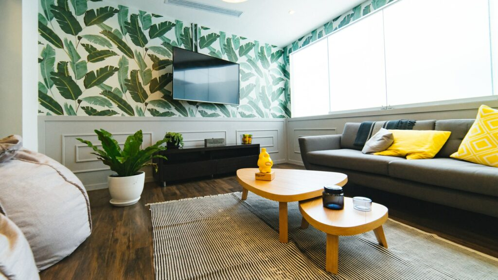 wallpaper $500 home makeover ideas